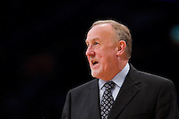 29 February 2012: Head coach Rick Adelman of the Minnesota Timberwolves coaches against the Los Angeles Lakers during the second half of the Lakers 104-85 victory over the Timberwolves at the STAPLES Center in Los Angeles, CA.