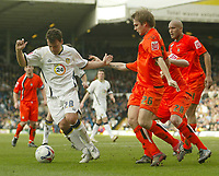 Photo: Aidan Ellis.<br /> Leeds United v Luton Town. Coca Cola Championship. 10/03/2007.<br /> leeds Robbie Blake trys to carve an opening through the Luton defence