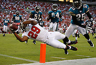 TAMPA, FL - OCTOBER 28: Running back Michael Bennett #29 scores his first touchdown for the Tampa Bay Buccaneers against the Jacksonville Jaguars at Raymond James Stadium on October 28, 2007 in Tampa, Florida. Tampa Bay lost 24-23. (photo by Mike Carlson/Tampa Bay Buccaneers)
