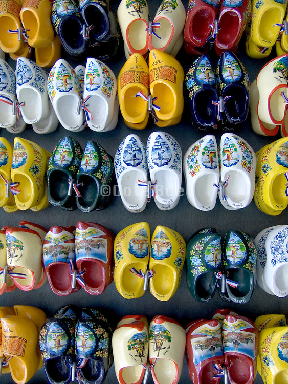 a display of clogs in Amsterdam Holland