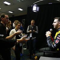 January 23, 2018 - Charlotte, North Carolina, USA: Matt DiBenedetto (32) meets with the media during the NASCAR Media Tour at Charlotte Convention Center in Charlotte, North Carolina.