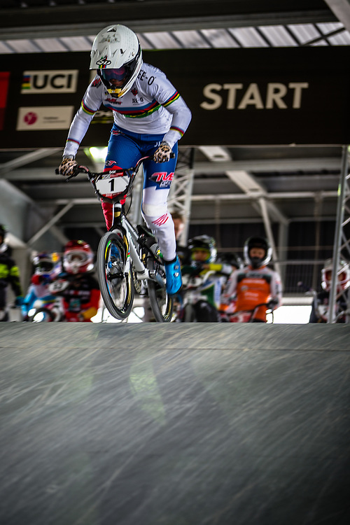 #1 (SMULDERS Laura) NED at Round 5 of the 2019 UCI BMX Supercross World Cup in Saint-Quentin-En-Yvelines, France