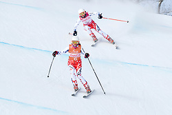PESKOVA Anna B2 CZE Guide: HUBACOVA Michaela competing in the Para Alpine Skiing Downhill at the PyeongChang2018 Winter Paralympic Games, South Korea