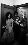 U2 - Adam Clayton - backstage  Chicago with the UK press - USA tour - 1981