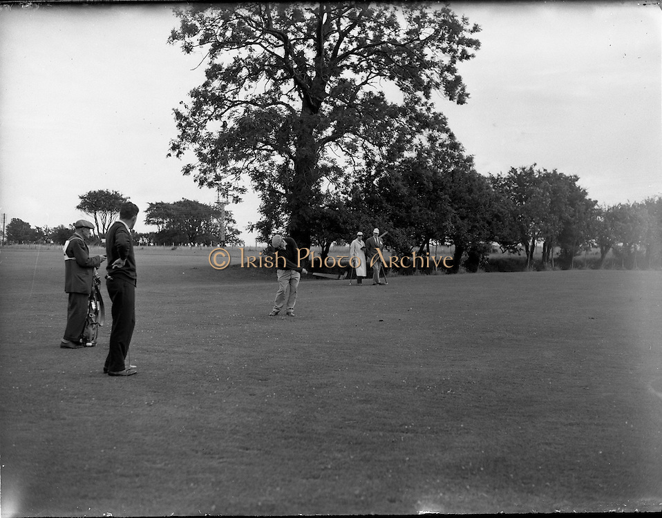 21/07/1962<br /> 07/21/ 1962<br /> 21 July 1962<br /> Woodbrook Irish Hospitals' Golf Tournament at Woodbrook Golf Course, Dublin, Saturday. John Panton (Glenbervie), drives on the 2nd fairway. He had a 67 to give him a two round total of 139.
