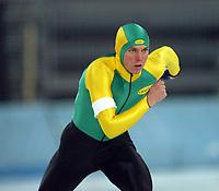 Skøyter, 2-3. november 2002. Norgescup med verdenscup-uttak. Vikingskipet-Hamar.  Morten Stordal, Geithus.