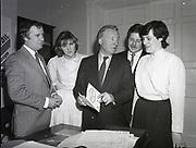 New three people joining up Fianna Fáil, Head Quarter, Dublin,<br /> 16th May 1984