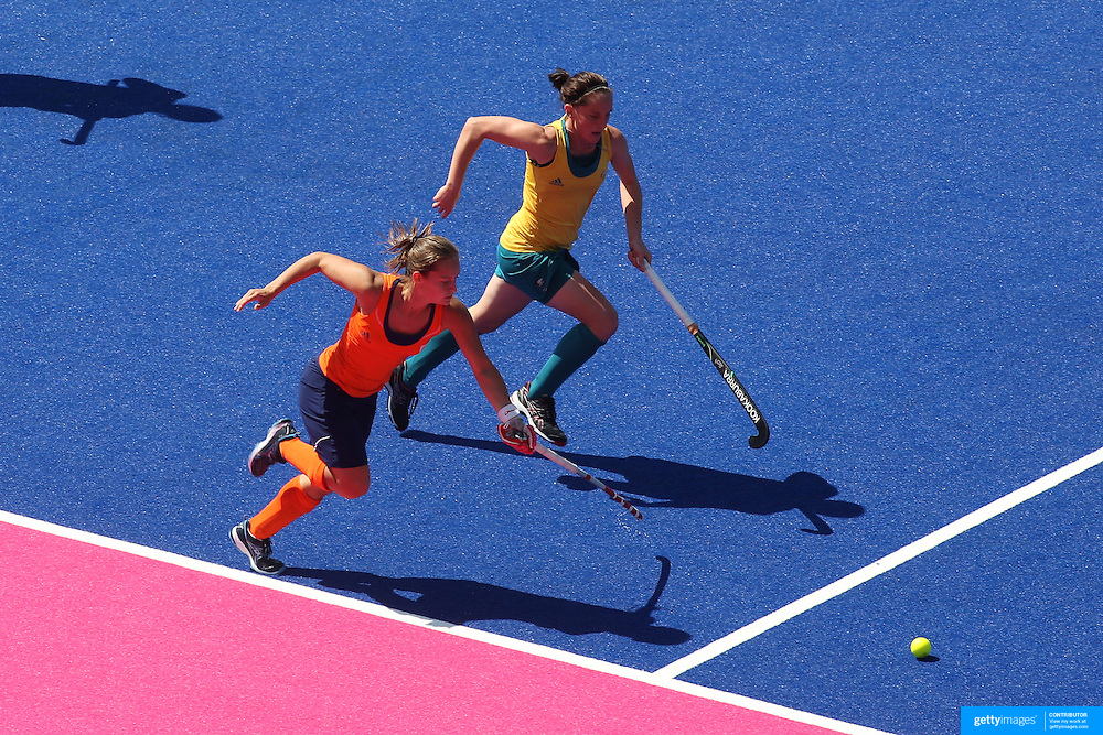 Action During The Australia V Holland Womens Hockey Warm Up Match On Main Arena