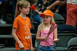 09-06-2019 NED: Golden League Netherlands - Spain, Koog aan de Zaan<br /> Fourth match poule B - The Dutch beat Spain again in five sets in the European Golden League / Dutch support, orange