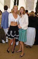 Left to right, sisters The HON.SOPHIA HESKETH and the HON.FLORA HESKETH at the 2005 Cartier International Polo between England & Australia held at Guards Polo Club, Smith's Lawn, Windsor Great Park, Berkshire on 24th July 2005.<br />