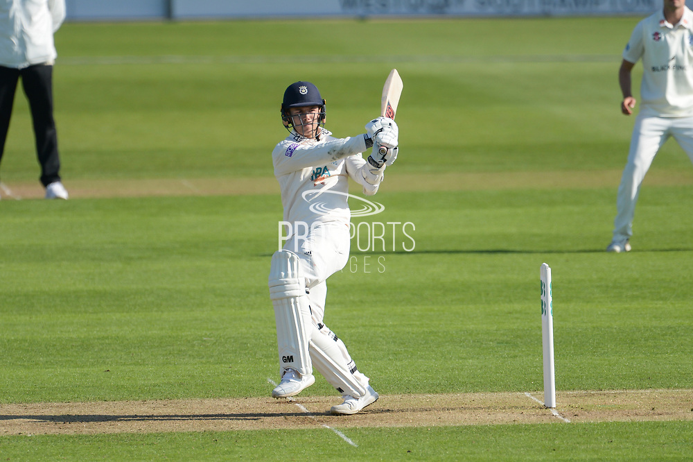 aLewis McManus of Hampshire batting during the Specsavers County Champ Div 1 match between Hampshire County Cricket Club and Worcestershire County Cricket Club at the Ageas Bowl, Southampton, United Kingdom on 14 April 2018. Picture by Dave Vokes.*** during the Specsavers County Champ Div 1 match between Hampshire County Cricket Club and Worcestershire County Cricket Club at the Ageas Bowl, Southampton, United Kingdom on 14 April 2018. Picture by Dave Vokes.