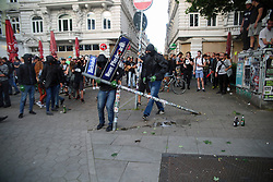 July 7, 2017 - Hamburg, Germany - At a protest against G20 at Schanzenviertel in Hamburg a heavy riot erupted between police and a few demonstrators. (Credit Image: © Alexander Pohl/Pacific Press via ZUMA Wire)