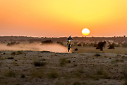 CS Santosh trains at the Sam Dunes in Jaisalmer, India on December 14, 2015 // Ali Bharmal / Red Bull Content Pool // P-20160107-00008 // Usage for editorial use only // Please go to www.redbullcontentpool.com for further information. //