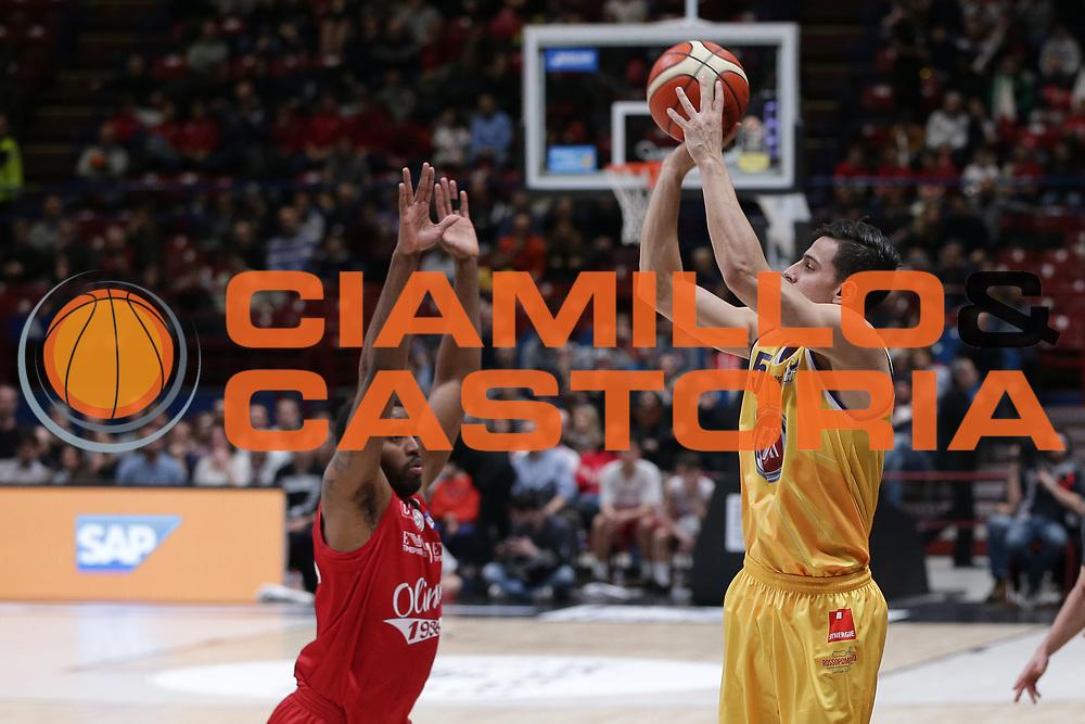 Alibegovic Mirza<br /> EA7 Olimpia Milano vs Auxilium Fiat Torino<br /> Lega Basket Serie A 2016/2017<br /> Milano 05/03/2017<br /> Foto Ciamillo-Castoria/A. Gilardi