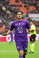 """Esultanza Alberto Aquilani Fiorentina<br /> Goal celebration<br /> Milano 10/11/2012 Stadio """"San Siro""""<br /> Football Calcio Serie A 2012/13<br /> Milan v Fiorentina<br /> Foto Insidefoto Paolo Nucci"""