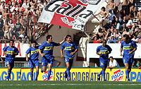Fotball<br />Argentina<br />09/11/03 RIVER PLATE (0 ) Vs. BOCA JUNIORS (2 ). <br />RAUL CASCINI , ROBERTO COLAUTTI , NICOLAS BURDISSO, SEBASTIAN BATTAGLIA , LUIS PEREA , ROLANDO SCHIAVI<br />Foto: Digitalsport
