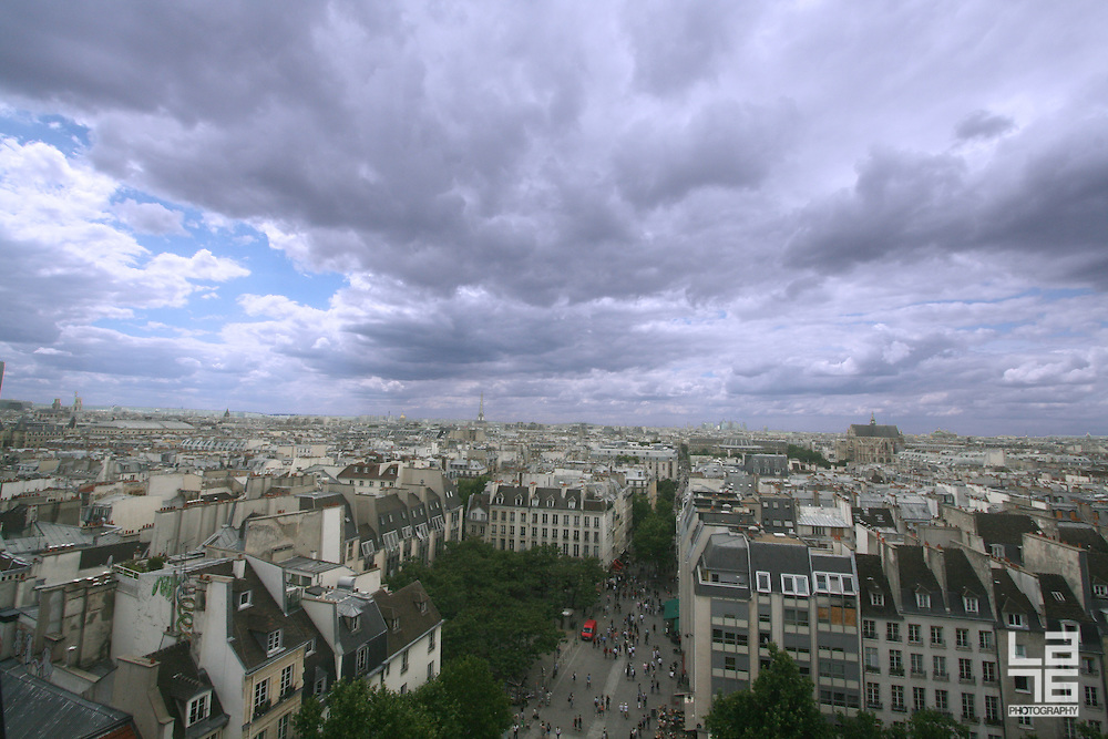 Paris skyline as seen from Pompidou centre.