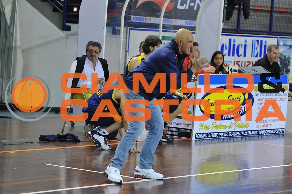 DESCRIZIONE : Foligno LNP Lega Nazionale Pallacanestro Serie A Dilettanti Coppa Italia 2009-10 UPEA Liomatic Viola RC La Fortezza Recanati<br /> GIOCATORE :&nbsp;Maurizio Marsigliani Coach<br /> SQUADRA : Liomatic Viola RC La Fortezza Recanati<br /> EVENTO : Lega Nazionale Pallacanestro 2009-2010&nbsp;<br /> GARA : Liomatic Viola RC La Fortezza Recanati<br /> DATA : 01/04/2010<br /> CATEGORIA : Ritratto<br /> SPORT : Pallacanestro&nbsp;<br /> AUTORE : Agenzia Ciamillo-Castoria/M.Gregolin<br /> Galleria : Lega Nazionale Pallacanestro 2009-2010&nbsp;<br /> Fotonotizia : Foligno LNP Lega Nazionale Pallacanestro Serie A Dilettanti Coppa Italia 2009-10 UPEA Liomatic Viola RC La Fortezza Recanati<br /> Predefinita