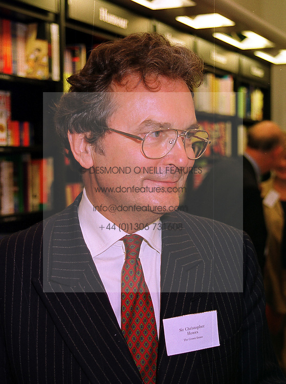 SIR CHRISTOPHER HOWES Chief executive of the Crown Estates, at a party in London on 13th September 1999.MWF 3
