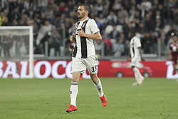 May 3, 2019 - Turin, Piedmont, Italy - Leonardo Bonucci (Juventus FC) during the Serie A football match between Juventus FC and Torino FC at Allianz Stadium on May 03, 2019 in Turin, Italy..Final results: 1-1. (Credit Image: © Massimiliano Ferraro/NurPhoto via ZUMA Press)