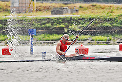 08.08.2014, Moskau, RUS, ICF, Kanu WM 2014, Tag 2, im Bild Yvonne Schuring (AUT) im Vorlauf KI 500m bei der WM 2014 in Moskau // durin day two of 2014 ICF Canoe Sprint World Championships in Moskau, Russia on 2014/08/08. EXPA Pictures © 2014, PhotoCredit: EXPA/ Eibner-Pressefoto/ Freise<br /> <br /> *****ATTENTION - OUT of GER*****