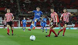 Jason Cummings of Peterborough United shoots at goal - Mandatory by-line: Joe Dent/JMP - 02/10/2018 - FOOTBALL - Stadium of Light - Sunderland, England - Sunderland v Peterborough United - Sky Bet League One