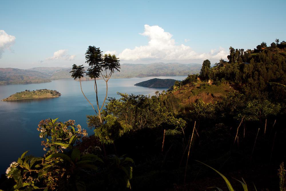 Lake Bulera close to Virunga lodge, Rwanda
