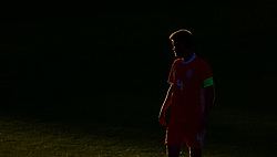 BANGOR, WALES - Monday, October 15, 2018: Wales' captain Ryan Reynolds during the UEFA Under-19 International Friendly match between Wales and Poland at the VSM Bangor Stadium. (Pic by Paul Greenwood/Propaganda)
