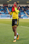 Rotherham United defender Shaun Cummings (25) after warm up session  before the EFL Sky Bet League 1 match between Gillingham and Rotherham United at the MEMS Priestfield Stadium, Gillingham, England on 17 April 2018. Picture by Martin Cole.