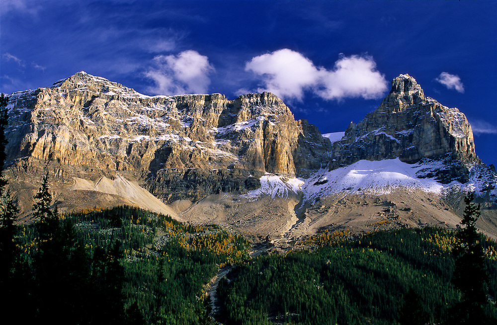 A view of the Cathedral Mountain on Yoho National Park, on the Canadian Rockies