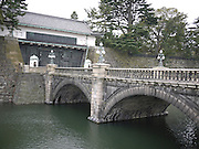 Japan, Tokyo, View of Nijubashi bridge at Imperial Palace