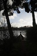 France, Britany , The Rance river estuary. Minihic village