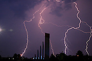 Bolts of lightning around the Fairborn, Ohio area, June 27, 2005.
