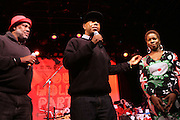 l to r: Danny Simmons, Russell Simmons and Tange Murray at The Rush Philanthropic Arts Foundation's 9th Annual Youth Holiday Party Sponsored by Target. The annual holiday event brings together over 500 at-risk young people affiliated with the 50 youth arts organizations Rush Philanthropic supports...In celebration of the creative energy of our New York City Youth, this annual holiday event is all about showing love and support for the kids, and letting them know that their hard work and many accomplishments through out the year don't go unnoticed.