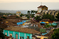 TRINIDAD, CUBA - CIRCA JANUARY 2020: View of colonial rooftops of Trinidad