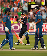 Captain Paul Collingwood during the ICC World Twenty20 Cup match between India and England at Lord's. Photo © Graham Morris (Tel: +44(0)20 8969 4192 Email: sales@cricketpix.com)