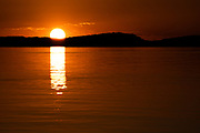 Sunset on Lake Kariba, the world's largest artificial lake, Zimbabwe