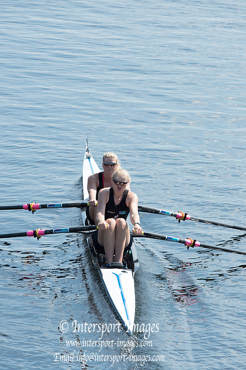 Hamburg. GERMANY.  NNZL JW2X. Hannah BAILEY and Luka ELLERY. Start.  Friday, Morning Quarter Finals at the 2014 FISA Junior World rowing. Championships.  12:38:50  Friday  08/08/2014  [Mandatory Credit; Peter Spurrier/Intersport-images]