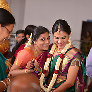 Tamil Brahmin Wedding photography<br /> A Tamil Brahmin wedding shot by Chennai's best Wedding Photographer Rupesh Aravind from Nimitham Wedding Photography. Rupesh is one of the Top Candid Wedding photographers in Chennai who specializes in wedding portraits, pre wedding shoots, post wedding shoots and couple's photography. Rupesh is one of the most trusted and sought after Candid Wedding Photographers in Chennai.