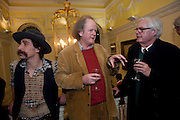 BROCK NORMAN BROCK; CRAIG BROWN; ALEXANDER CHANCELLOR, The 2009 Literary Review Bad sex in Fiction award. In and Out Club. St. James's Sq. London. 30 November 2009