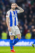 Shane Duffy (Brighton) thanking the supporters at the end of the FA Cup fourth round match between Brighton and Hove Albion and West Bromwich Albion at the American Express Community Stadium, Brighton and Hove, England on 26 January 2019.