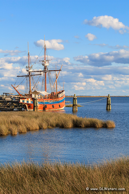 Queen Elizabeth Two Is a replica of an English merchant vessel that  brought the new settlers to Roanoke Island in 1585.