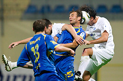Dalibor Teinovic of Domzale vs Maximiliano Klebcar of Celje during the football match between NK Domzale and MIK CM Celje, played in the 10th Round of Prva liga football league 2010 - 2011, on September 22, 2010, Spors park, Domzale, Slovenia. Domzale defeated Celje 1 - 0. (Photo by Vid Ponikvar / Sportida)