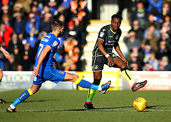 Marc Bola of Bristol Rovers passes the ball - Mandatory by-line: Robbie Stephenson/JMP - 17/02/2018 - FOOTBALL - Cherry Red Records Stadium - Kingston upon Thames, England - AFC Wimbledon v Bristol Rovers - Sky Bet League One