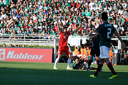 May 28, 2018 - Pasadena, CA, U.S. - PASADENA, CA - MAY 28: Joe Ledley of Wales reacts after a call during the game against Mexico on May 28, 2018, at the Rose Bowl in Pasadena, CA.  (Photo by Adam  Davis/Icon Sportswire) (Credit Image: © Adam Davis/Icon SMI via ZUMA Press)