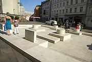 Holocaust memorial, over the site of a destroyed synagogue, Neupfarrplatz, Regensburg, Bavaria, Germany
