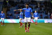 Portsmouth's Ellis Harrison during the EFL Sky Bet League 1 match between Portsmouth and Peterborough United at Fratton Park, Portsmouth, England on 7 December 2019.