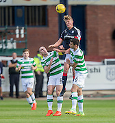 Dundee&rsquo;s Mark O&rsquo;Hara towers above Celtic&rsquo;s Scott Brown and Nir Bitton - Dundee v Celtic in the Ladbrokes Scottish Premiership at Dens Park, Dundee. Photo: David Young<br /> <br />  - &copy; David Young - www.davidyoungphoto.co.uk - email: davidyoungphoto@gmail.com