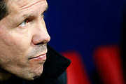 Atletico Madrid's Argentinian coach Diego Simeone reacts during the Spanish Cup, Copa del Rey quarter final, 1st leg football match between Atletico Madrid and Sevilla FC on January 17, 2018 at Wanda Metropolitano stadium in Madrid, Spain - Photo Benjamin Cremel / ProSportsImages / DPPI