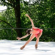 Liz Schmidt of Ice Dance International performs on the outdoor stage at Jacobs Pillow, July 2019